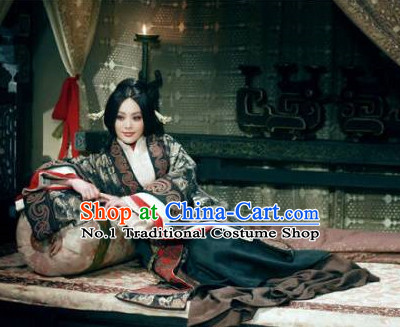 Chinese Empress Stage Costumes and Hair Ornaments