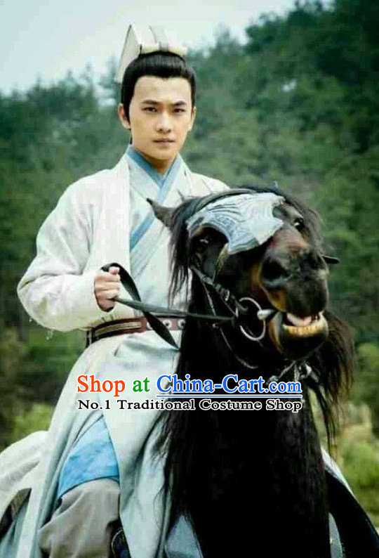 Chinese Pan An Handsome Man TV Play Hanfu Costumes and Coronet