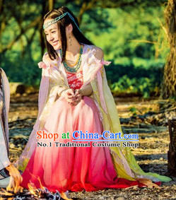 Chinese Lengend of the Ancient Sword Fairy Cosplay Costumes and Hair Jewelry