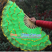 Green Chinese Dance Fan