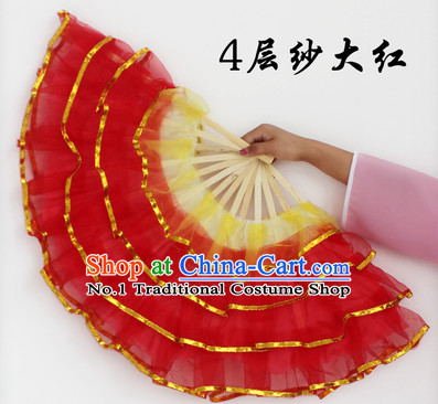 Four Layers Red Dance Fan