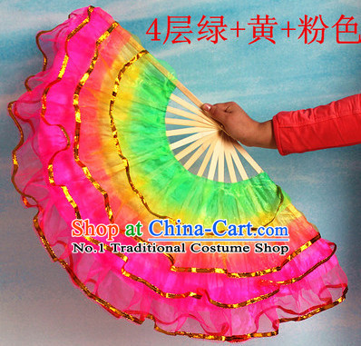 Four Layers Chinese Dancing Fan