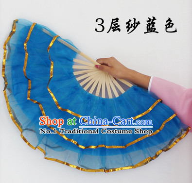 Three Layers Chinese Dance Fans