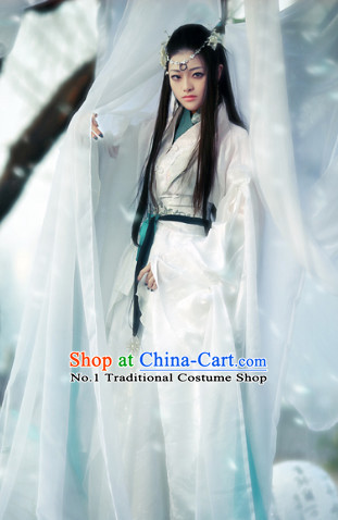 Pure White Fairy Chinese Costumes