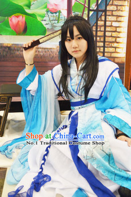 Blue Chinese Classical Cosplay Costumes
