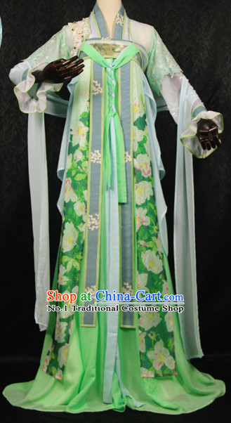 Beautiful Chinese Women Green Fairy Costumes