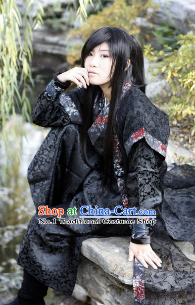 Asian Fashion Black Kung Fu Master Uniform