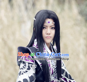 Traditioal Chinese Black Long Wig