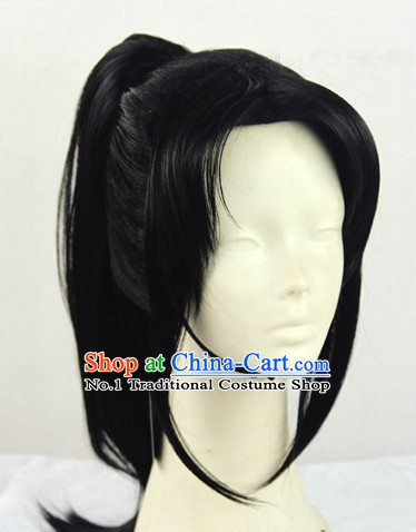 Ancient Chinese Black Warrior Wig