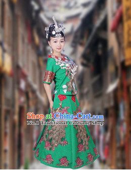 China Hmong Miao Stage Costumes for Women