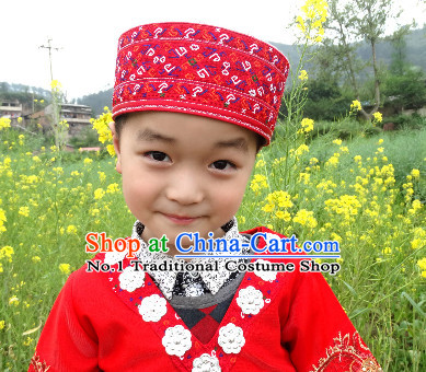 Guizhou Miao Tribe Hat for Both Adults and Kids