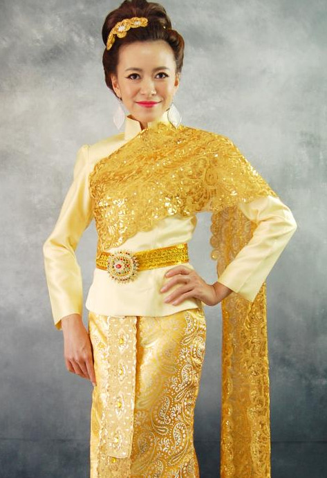 Formal Thai National Costume for Women