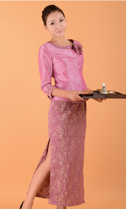 Formal Thai Restaurant Uniform for Women