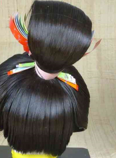 Asian Japanese Black Wig for Women