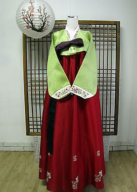 Asian Fashion Korean Hanbok National Clothes for Women