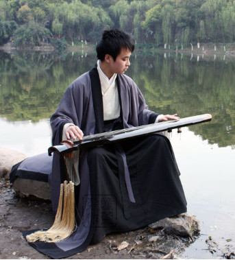China Classical Musician Hanfu Dresses for Men