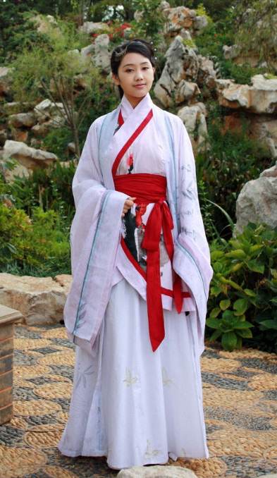 China Classical Lady Hanfu Clothing Full Set