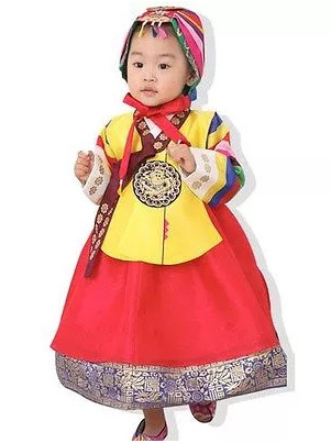 Asian Fashion online Korean Hanboks for Little Girls