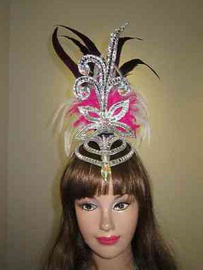 Profesional Stage Performance Feather Hat