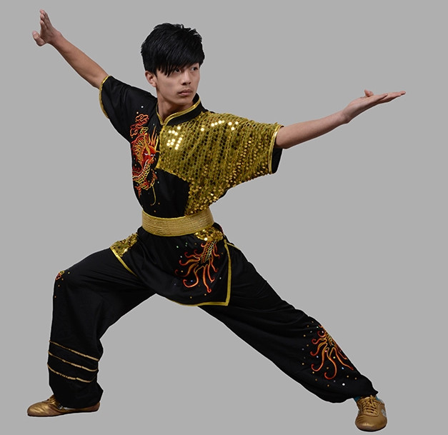 Top Dragon Embroidered Martial Arts Uniform Complete Set