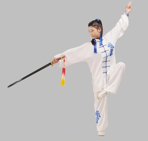 Top Kung Fu Sword Performance and Competition Uniform Complete Set