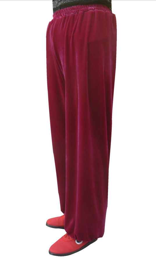 Top Martial Arts Dark Red Pants
