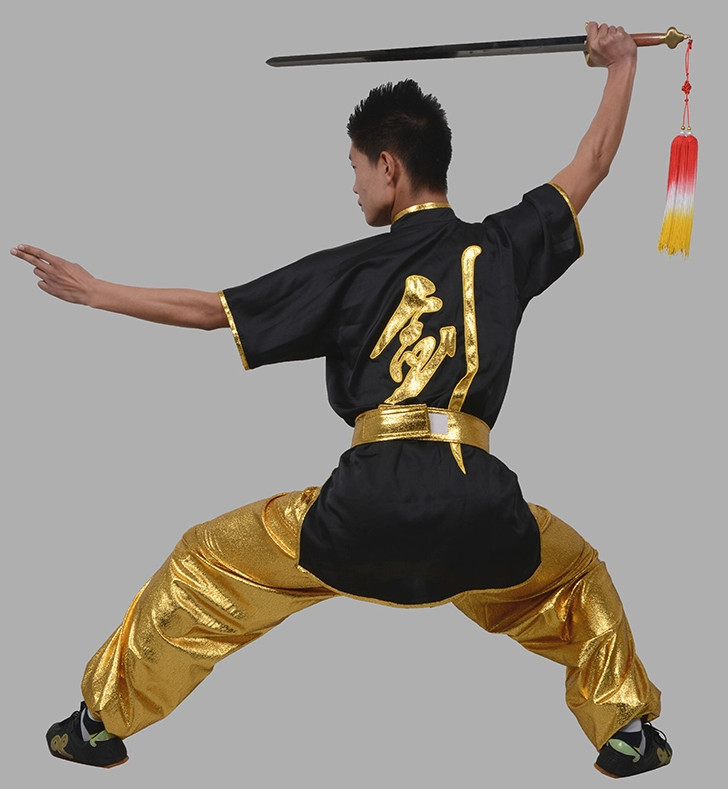 Kung Fu Clothing Beijing Short Sleeves Sword Chinese Character Kung Fu Uniform