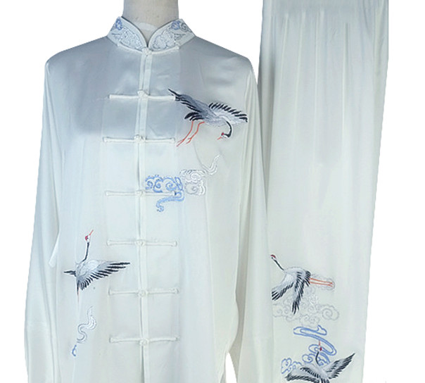 Top Crane Embroidery Tai Chi Championship Uniform