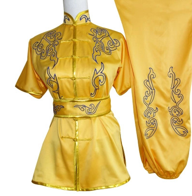 Short Sleeves Embroidered Martial Arts Suit