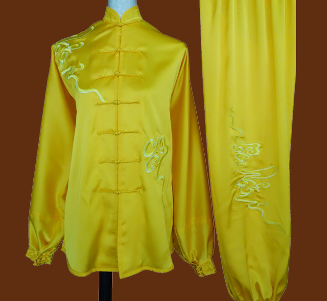 Top China Phoenix Embroidery Gold Taiji Suits