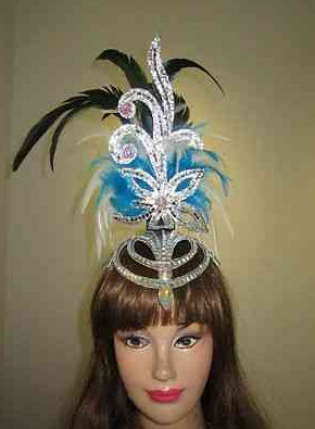 Profesional Stage Performance Feather Hair Decorations