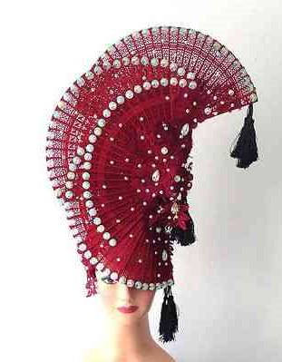 Profesional Stage Performance Fan Shape Hat