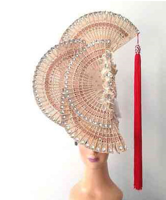 Profesional Stage Performance Fans Shape Hat