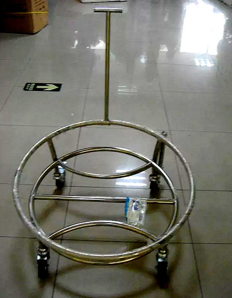 Stainless Steel Professional Lion Dance Drum Cart