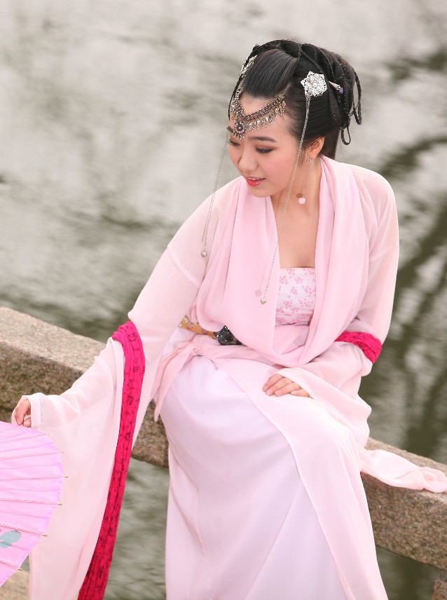 China Pink Clothes Carnival Costumes Dance Costumes Traditional Costumes for Women