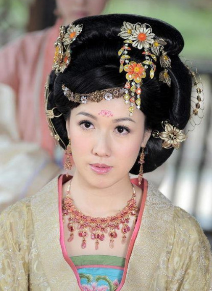 Chinese Classical Empress Black Wig and Headpieces