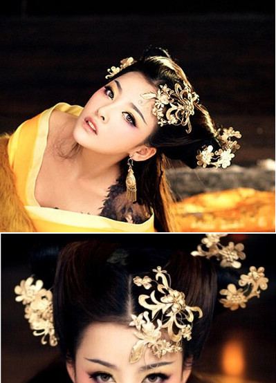 China Classical Black Wig and Headpieces