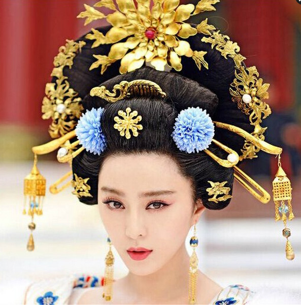 Supreme Chinese Empress Hair Fascinators Jewellery Accessories Wedding Headpieces