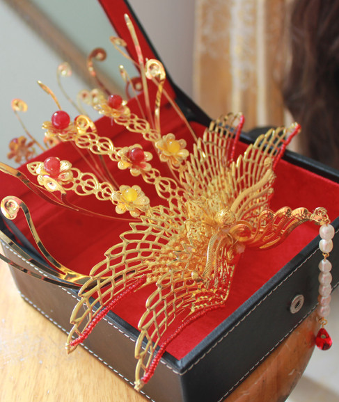 Chinese Traditional Handmade Phoenix Hair Jewellry