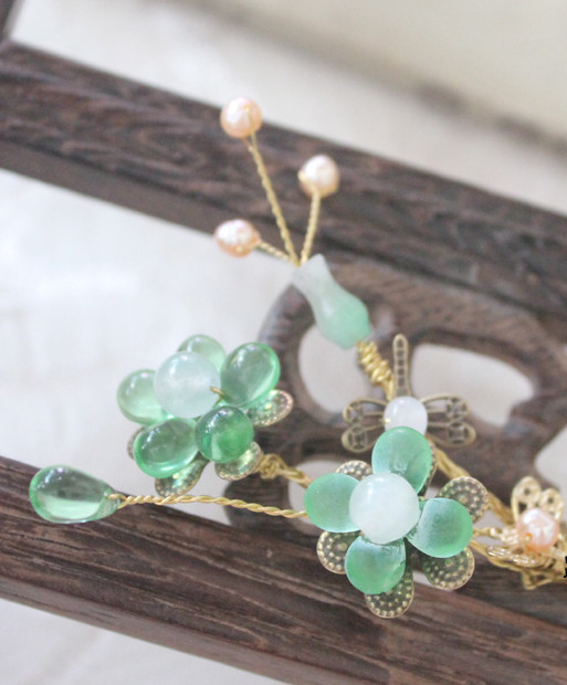 Chinese Traditional Handmade Plum Blossom Hair Clips