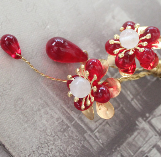 Chinese Traditional Handmade Plum Blossom Hair Clip