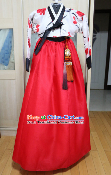 Asian Korean Hwang Jin Yi Hanbok Costumes for Women
