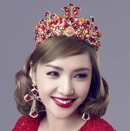 Top Bridal Baroque Style Queen Crown