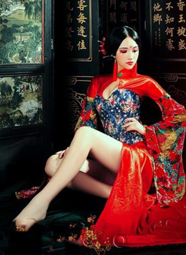 Chinese Traditional Folk Bridal Wedding Dress