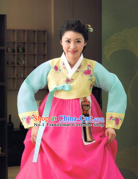 Korean Traditional Wedding Dress Ceremonial Costume for Women