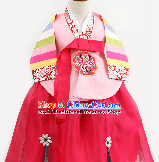 Dangui Korean Royal Costume Traditional Korean Queen Princess Ceremony Costumes for Kids