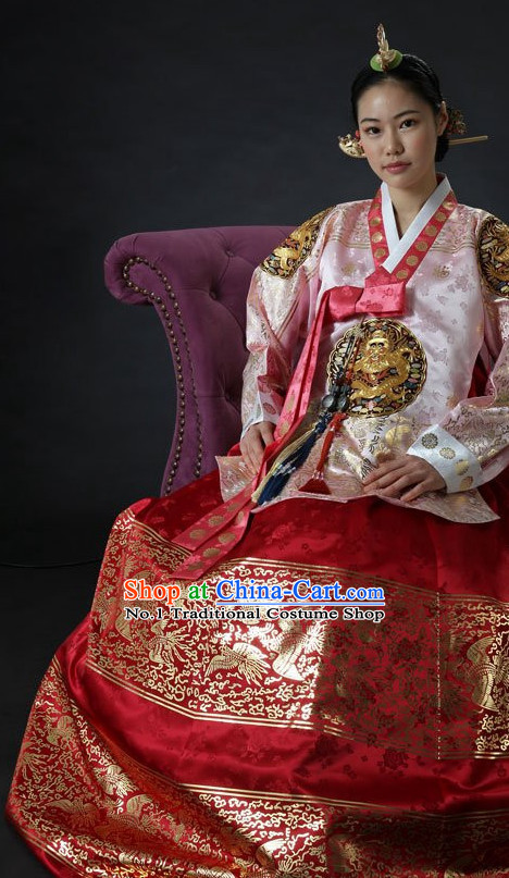 Dangui Korean Royal Costumes Traditional Korean Queen Princess Ceremony Costume for Women