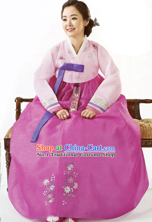Korean Wedding Ceremonial Dress for Brides
