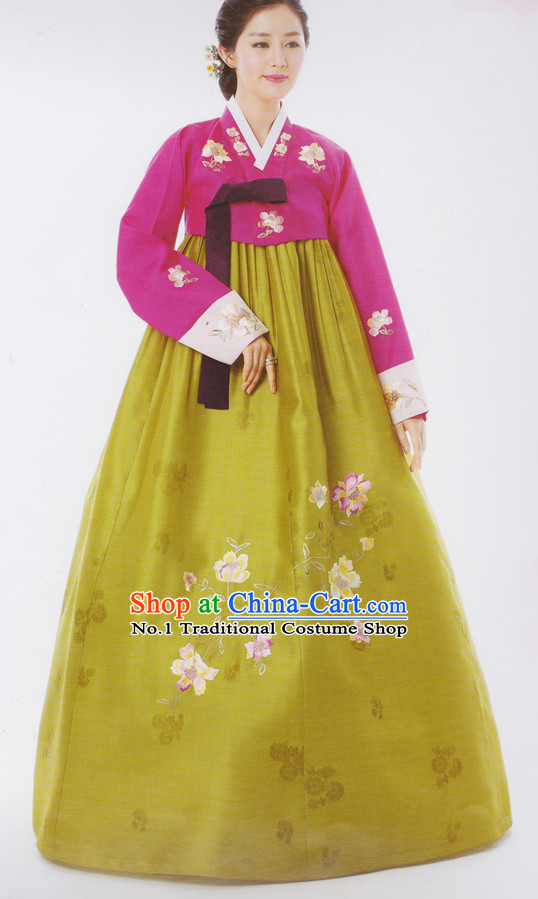 Korean Ceremonial Hanbok Wedding Dresses