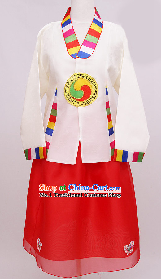 Korean Restaurant Hanbok Working Uniform
